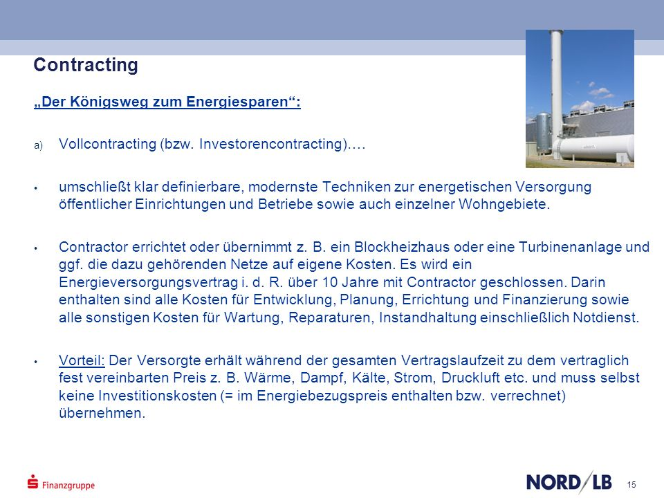 "Contracting ""Der Königsweg zum Energiesparen :"