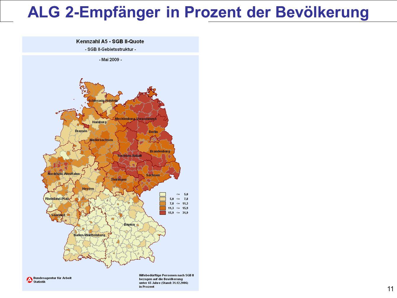 ALG 2-Empfänger in Prozent der Bevölkerung