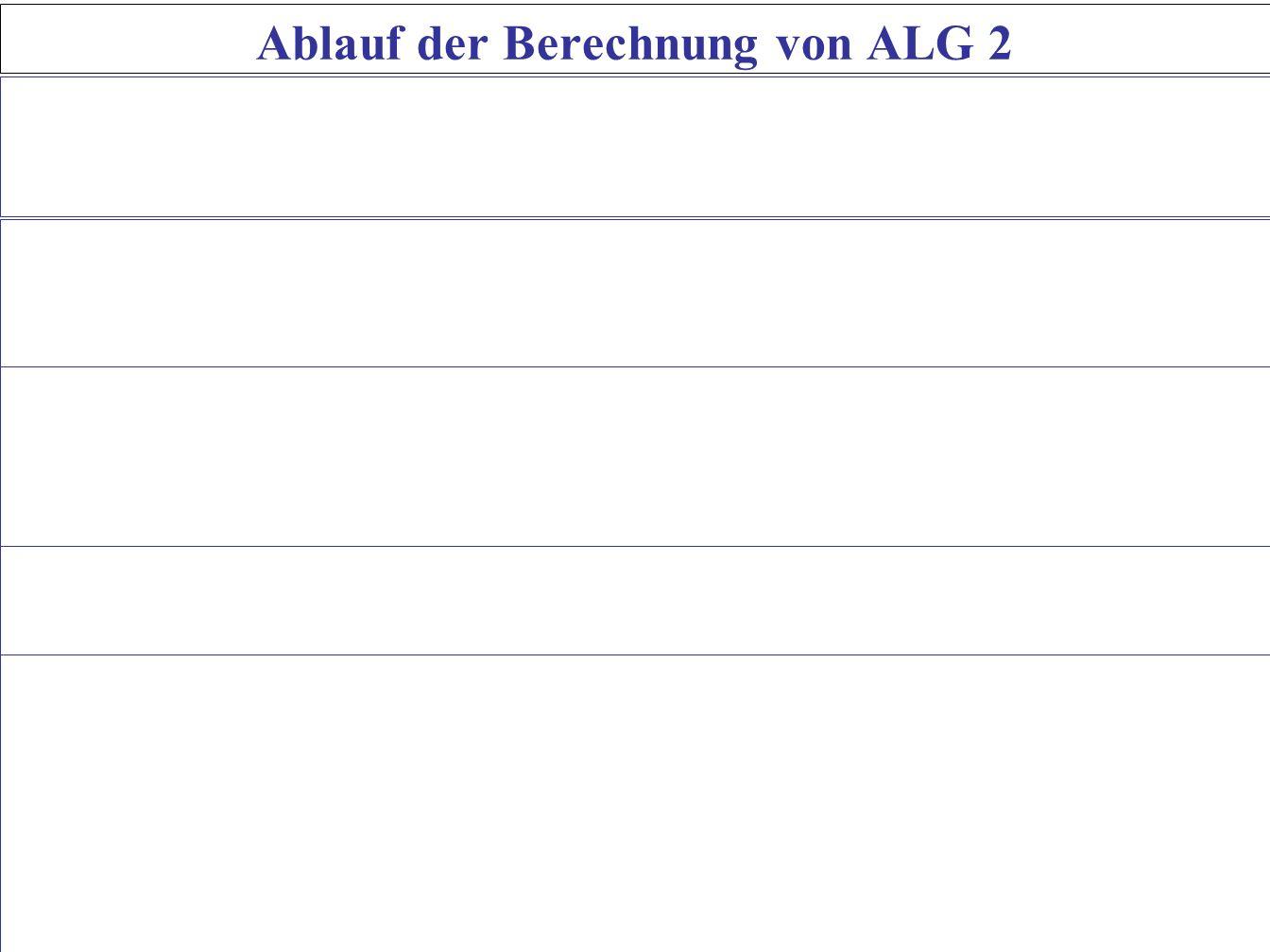 Ablauf der Berechnung von ALG 2