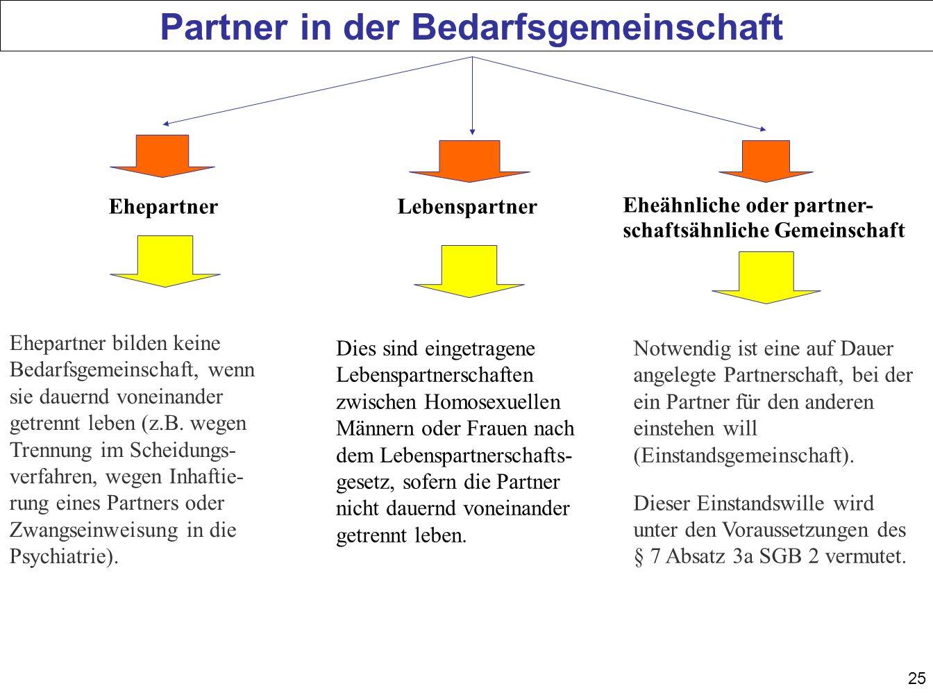 Partner in der Bedarfsgemeinschaft