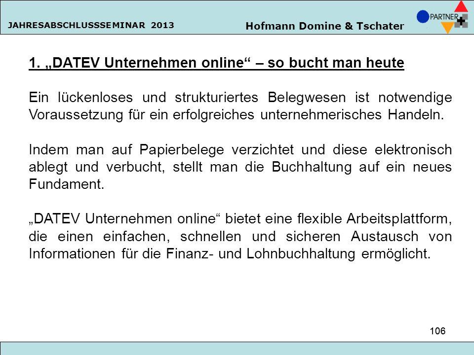 """1. """"DATEV Unternehmen online – so bucht man heute"""
