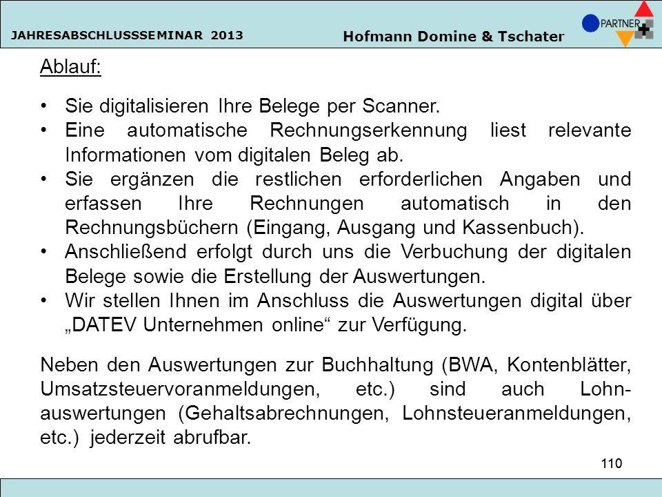 Sie digitalisieren Ihre Belege per Scanner.