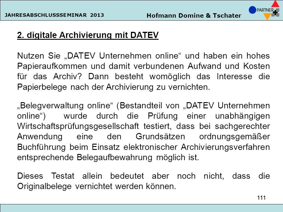 2. digitale Archivierung mit DATEV