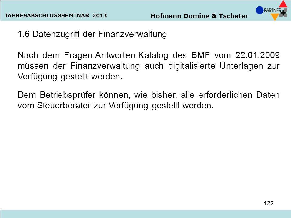 1.6 Datenzugriff der Finanzverwaltung