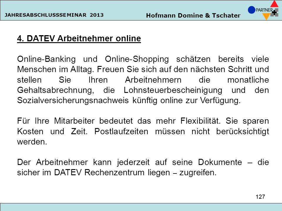 4. DATEV Arbeitnehmer online
