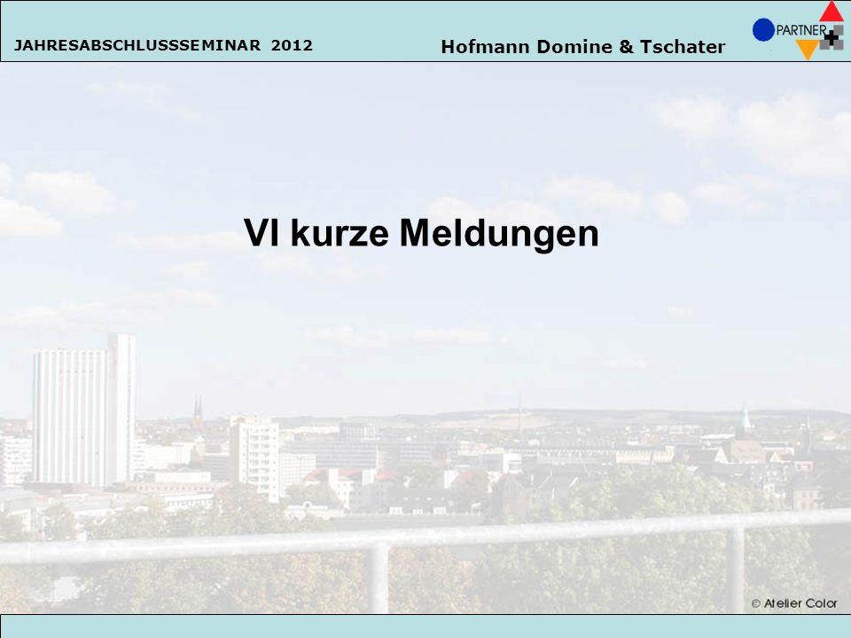 VI kurze Meldungen Hofmann Domine & Tschater 142