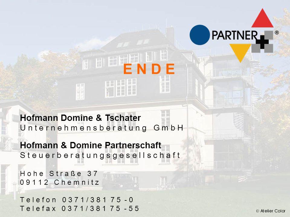 E N D E E N D E Hofmann Klinksiek & Tschater Hofmann Domine & Tschater