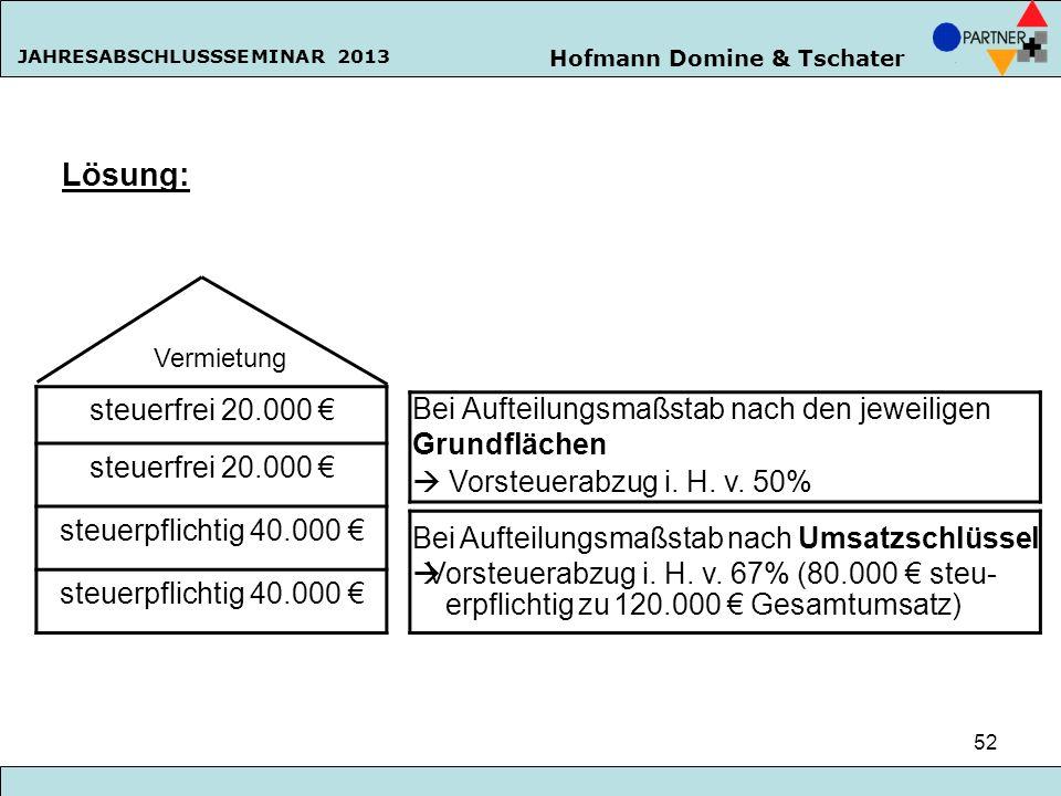 Lösung: steuerfrei 20.000 € steuerpflichtig 40.000 €