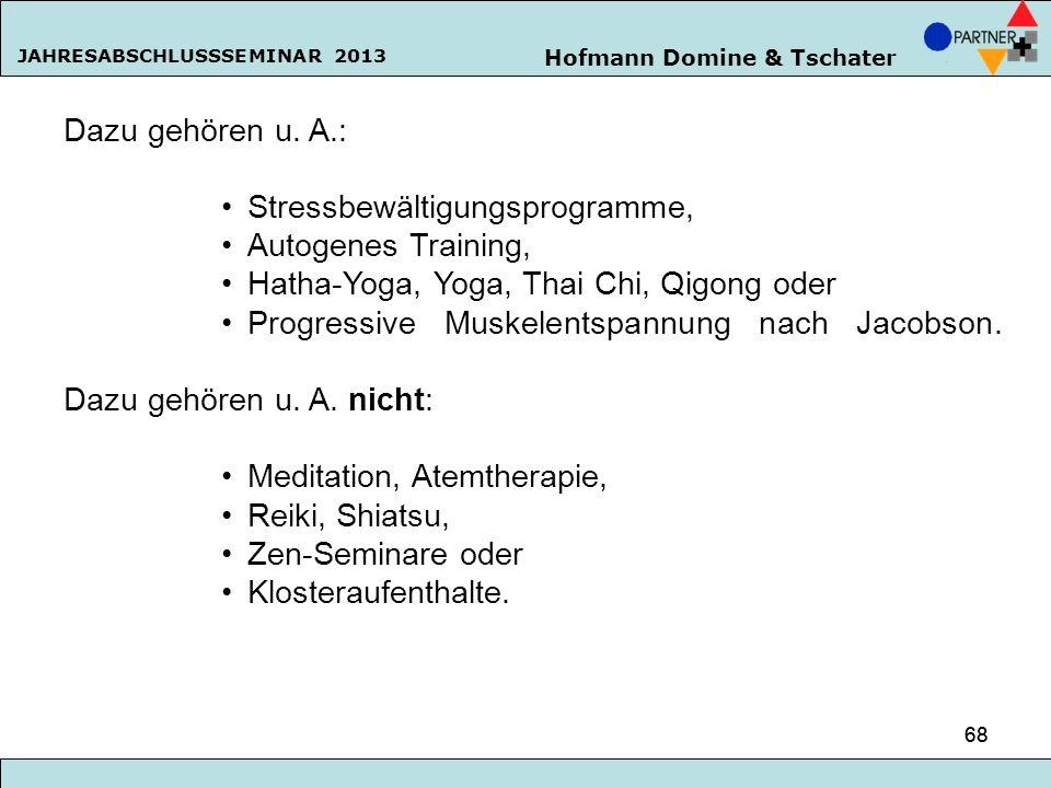 Stressbewältigungsprogramme, Autogenes Training,