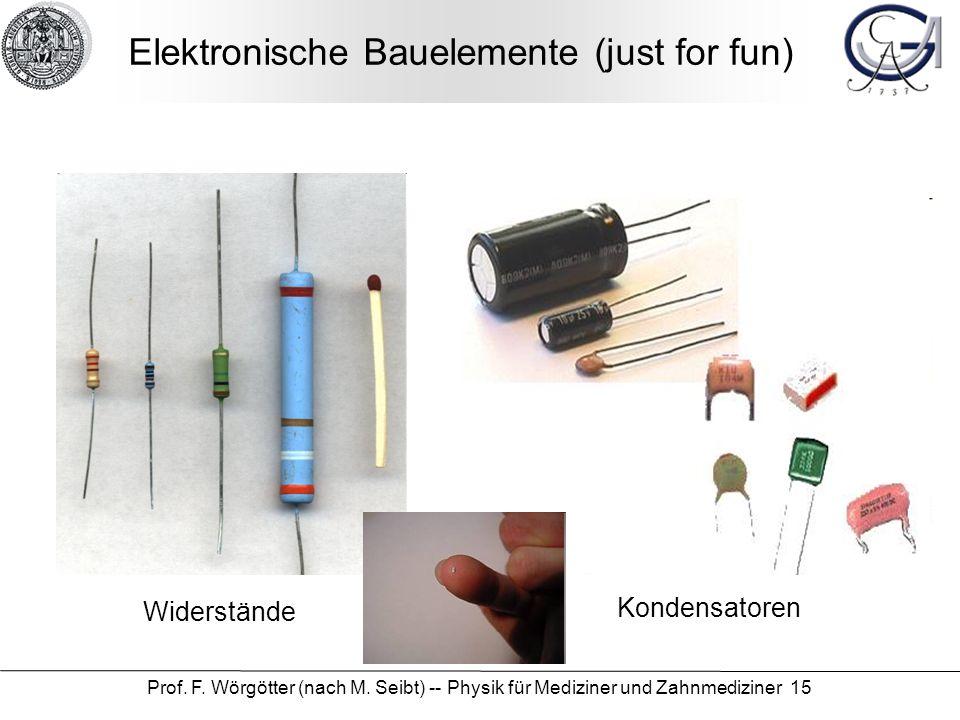 Elektronische Bauelemente (just for fun)