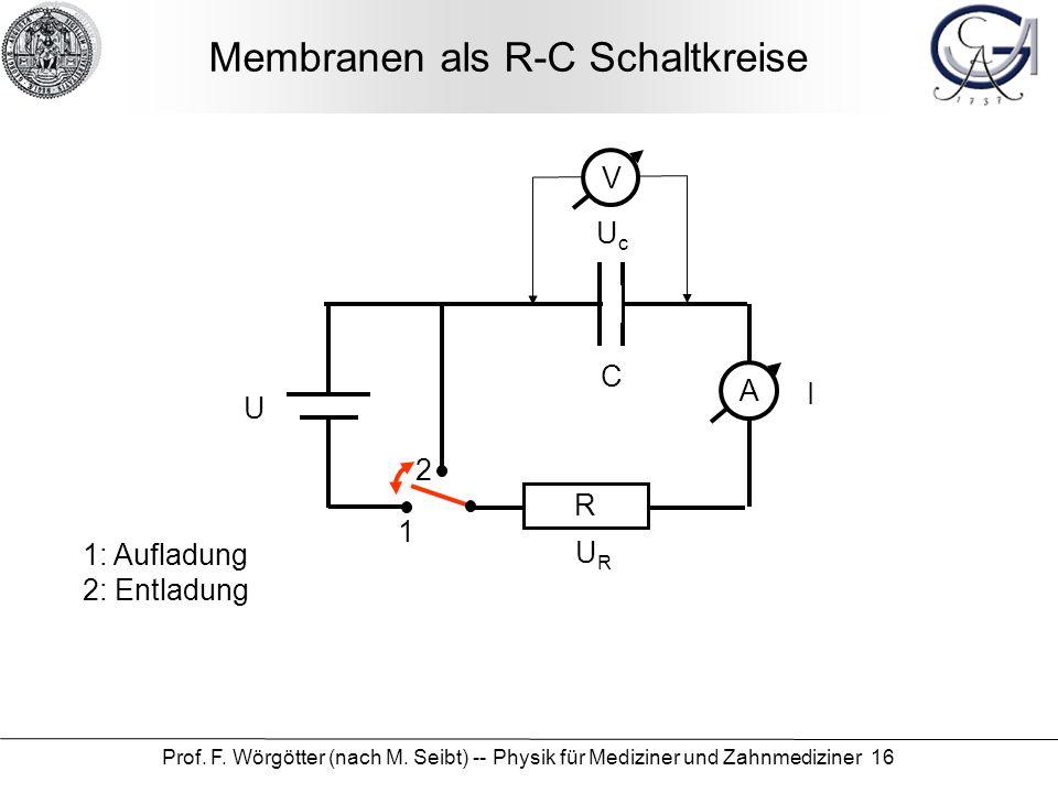 Membranen als R-C Schaltkreise