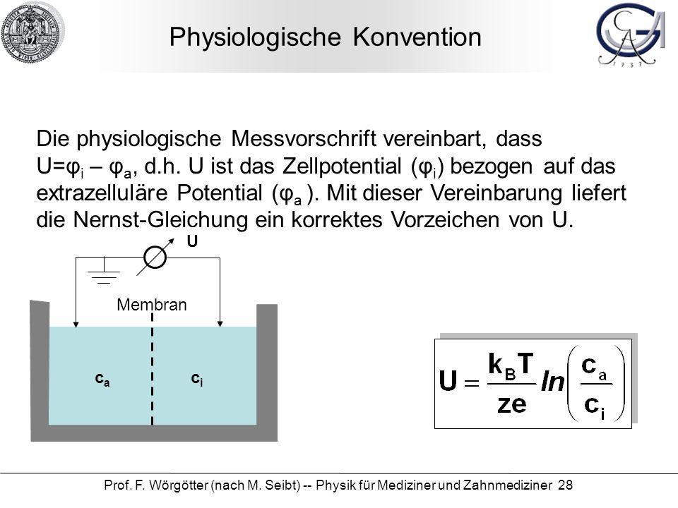 Physiologische Konvention