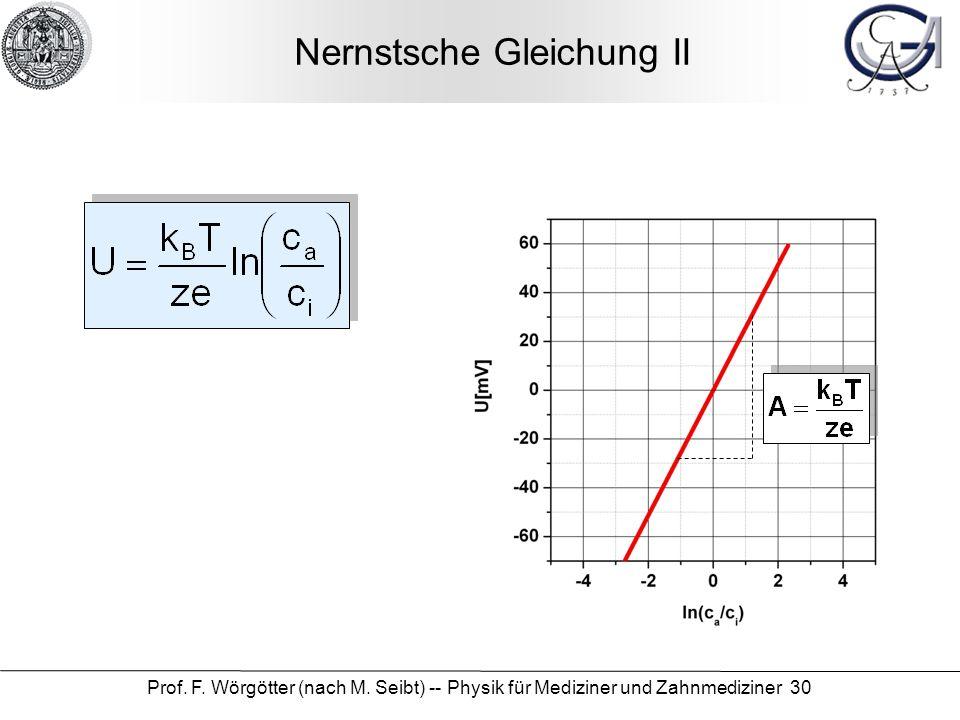 Nernstsche Gleichung II