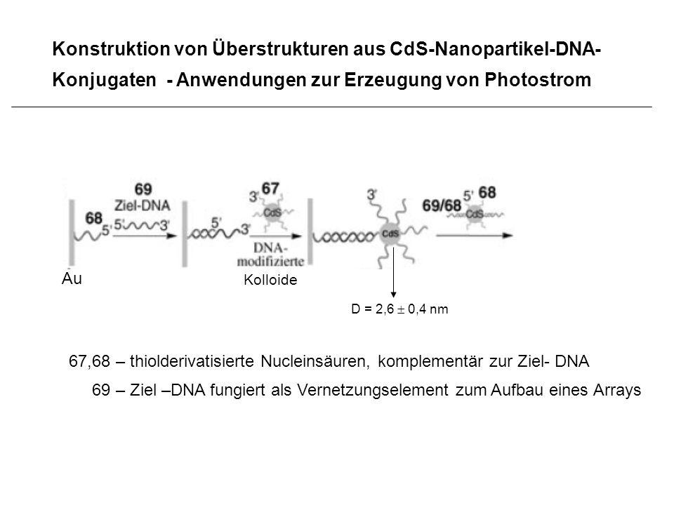 Konstruktion von Überstrukturen aus CdS-Nanopartikel-DNA-