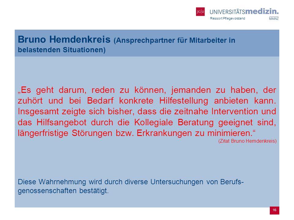 Bruno Hemdenkreis (Ansprechpartner für Mitarbeiter in belastenden Situationen)