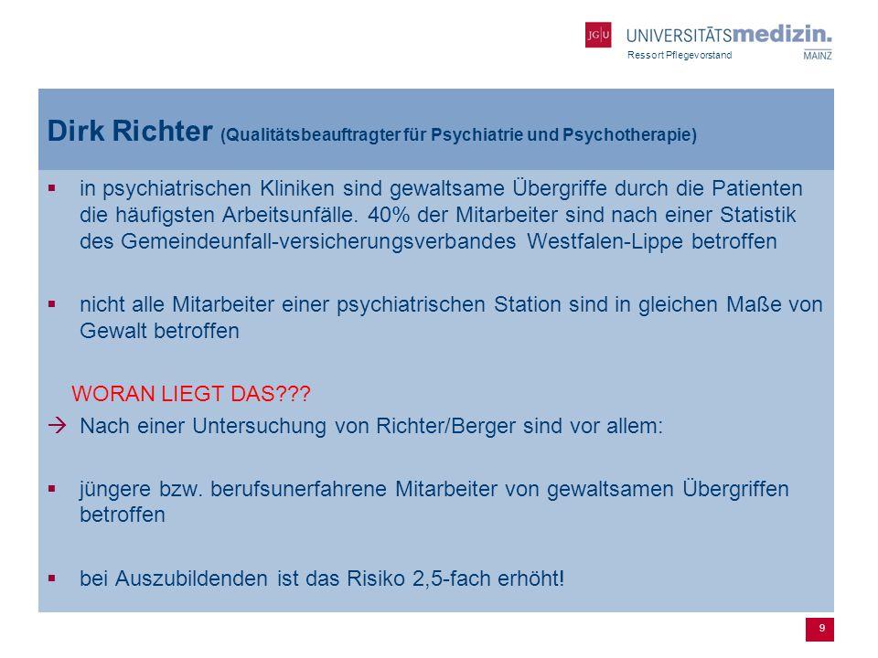 Dirk Richter (Qualitätsbeauftragter für Psychiatrie und Psychotherapie)