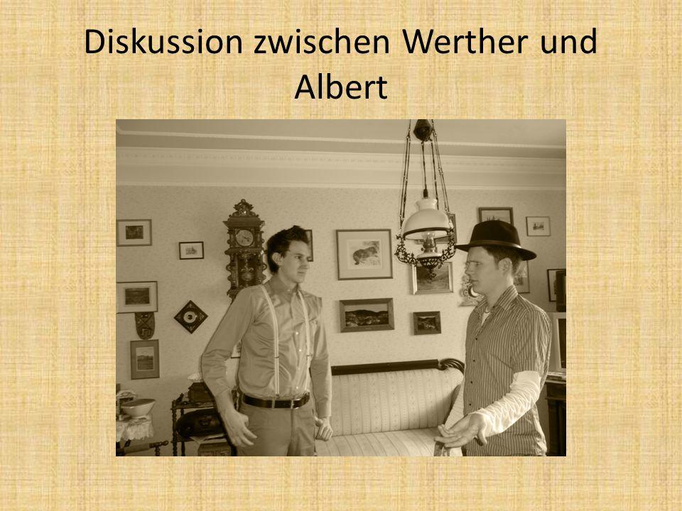 Diskussion zwischen Werther und Albert