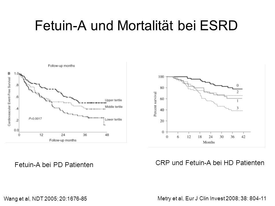 Fetuin-A und Mortalität bei ESRD