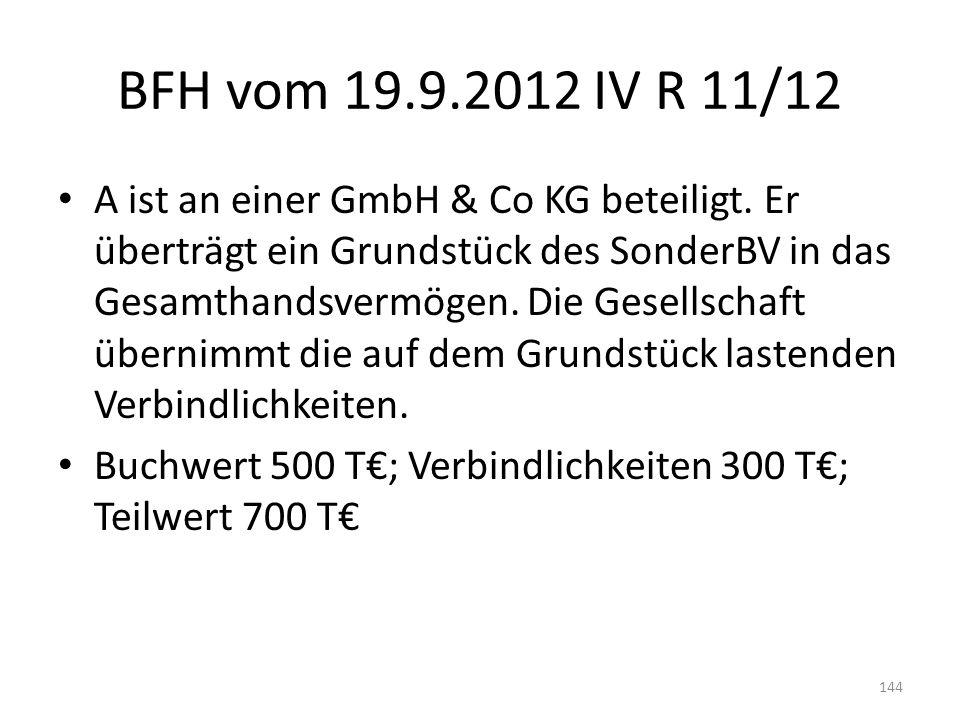 BFH vom 19.9.2012 IV R 11/12