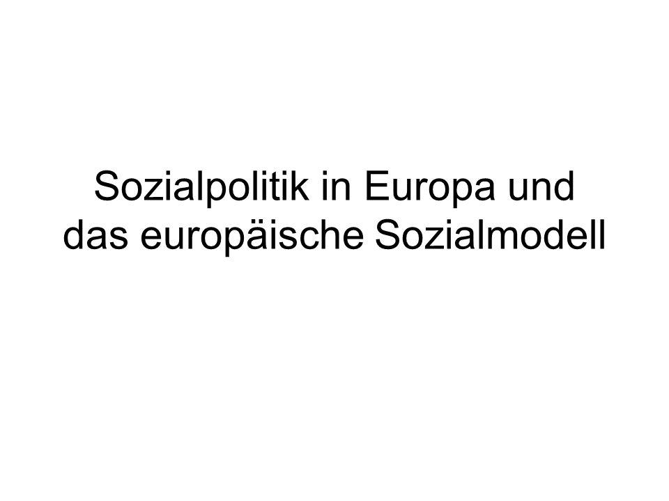 Sozialpolitik in Europa und das europäische Sozialmodell
