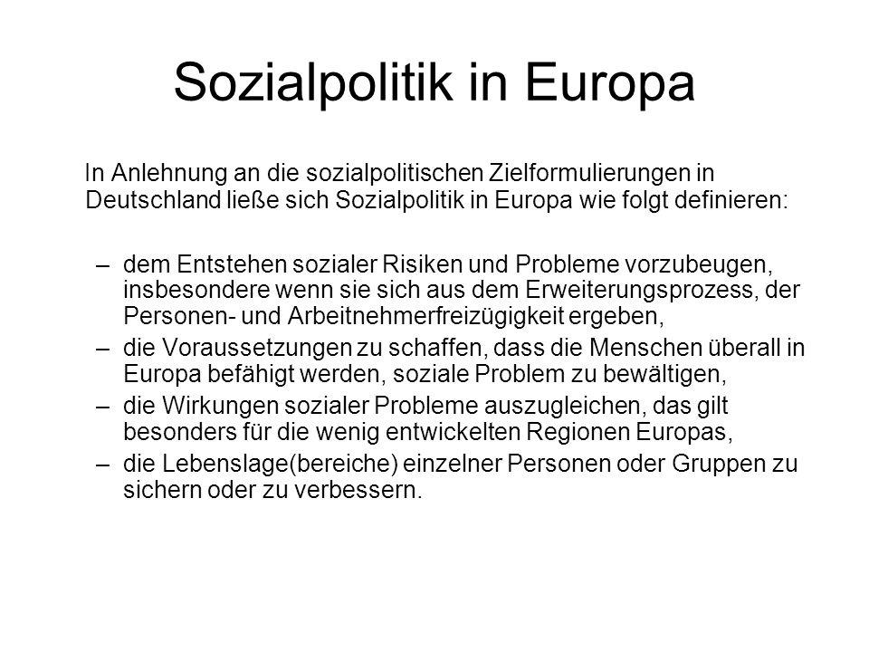 Sozialpolitik in Europa