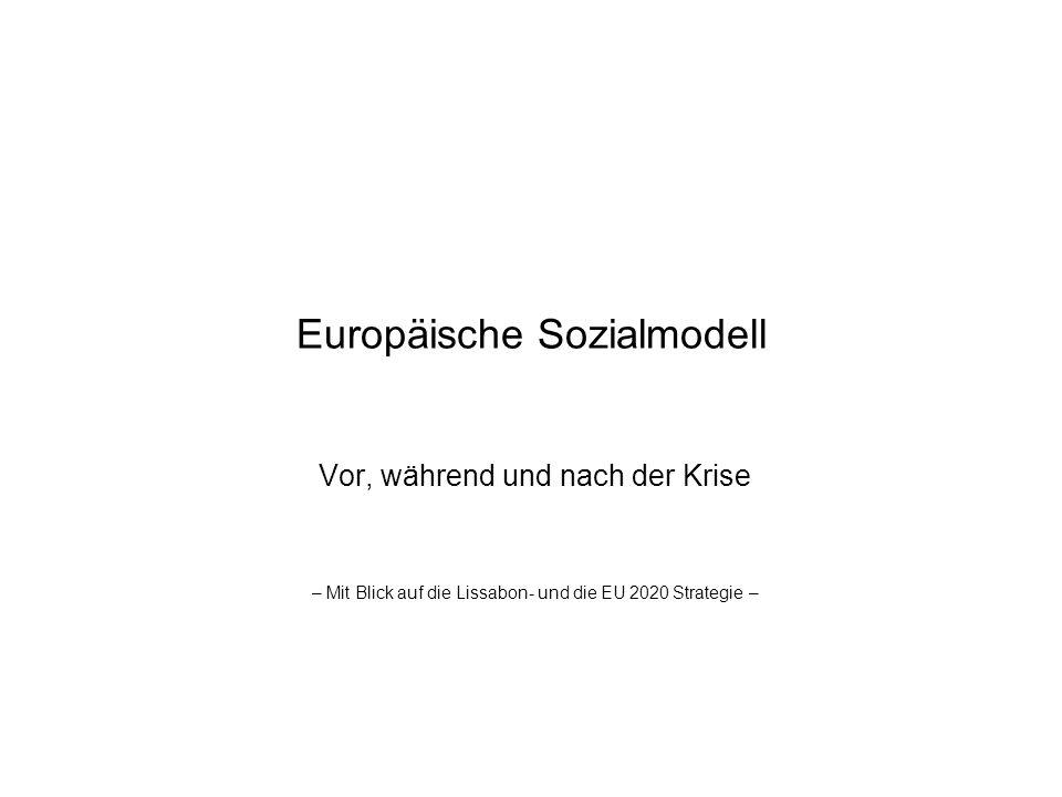 Europäische Sozialmodell