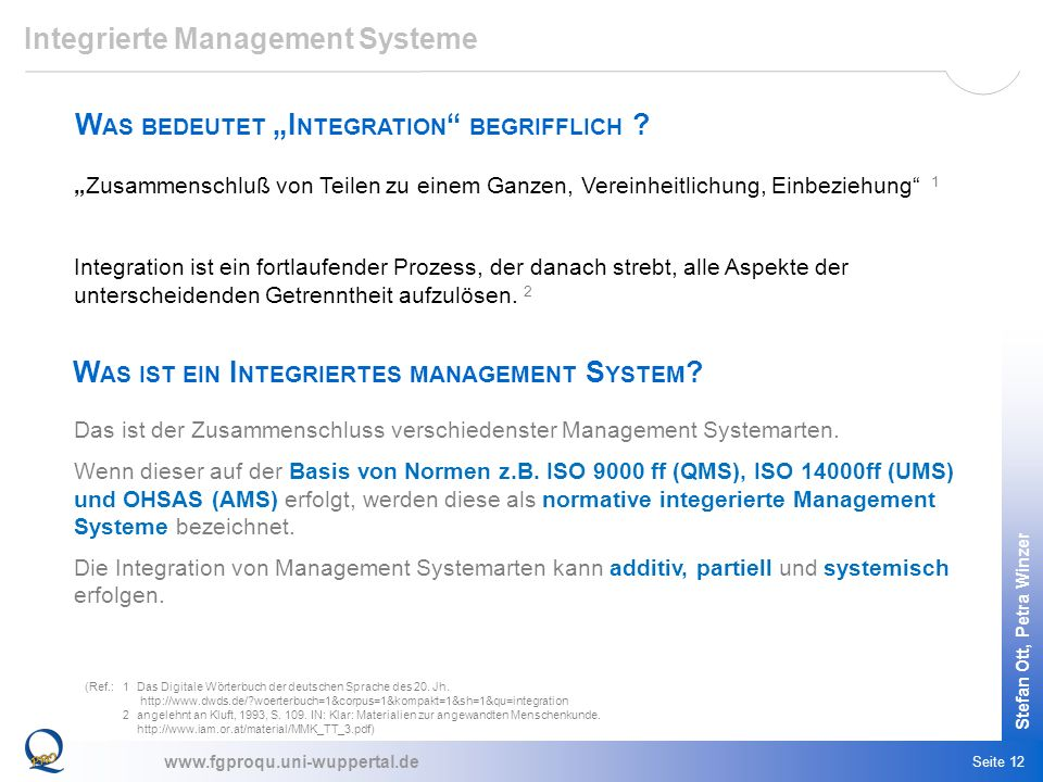 Integrierte Management Systeme