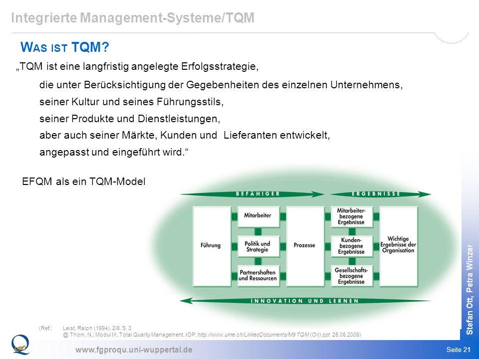 Integrierte Management-Systeme/TQM