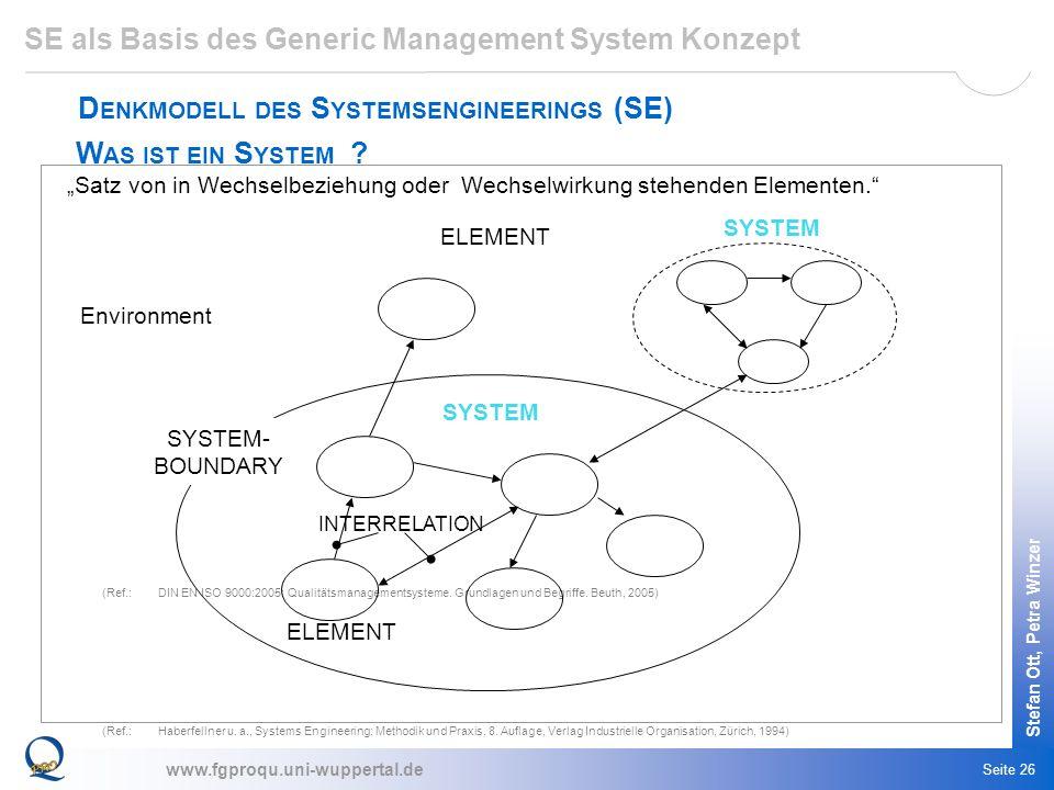 SE als Basis des Generic Management System Konzept