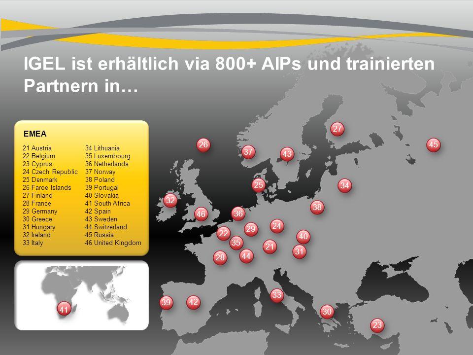 IGEL ist erhältlich via 800+ AIPs und trainierten Partnern in…