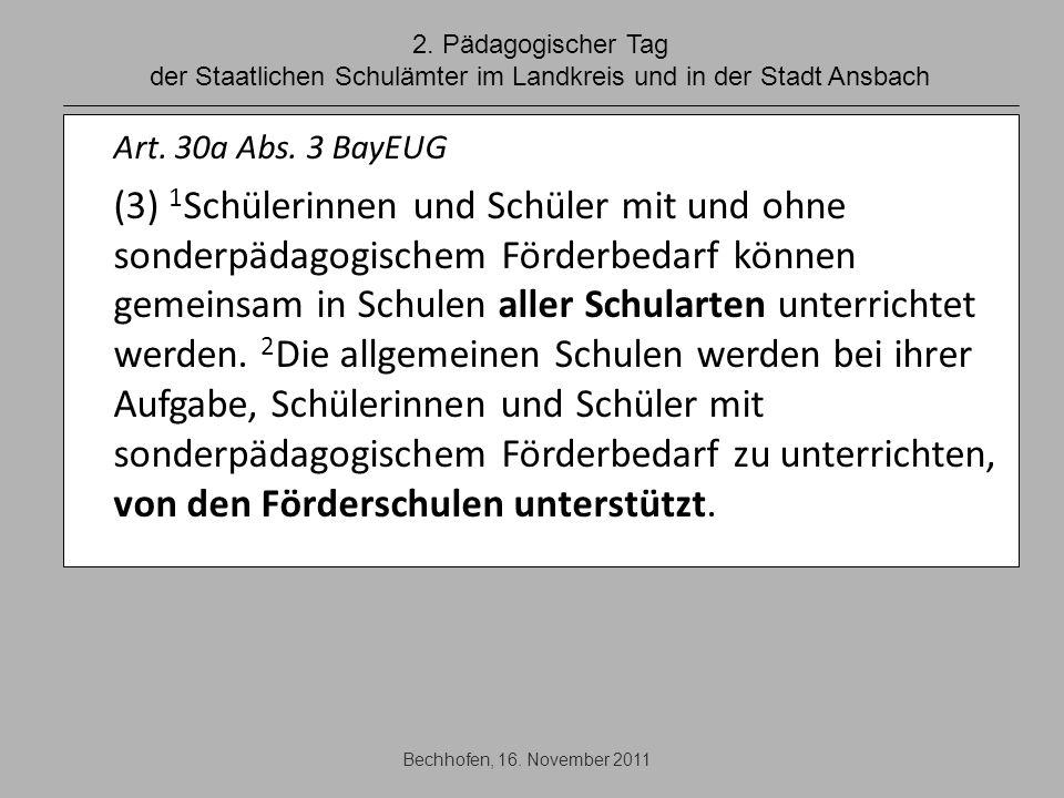 2. Pädagogischer Tag der Staatlichen Schulämter im Landkreis und in der Stadt Ansbach