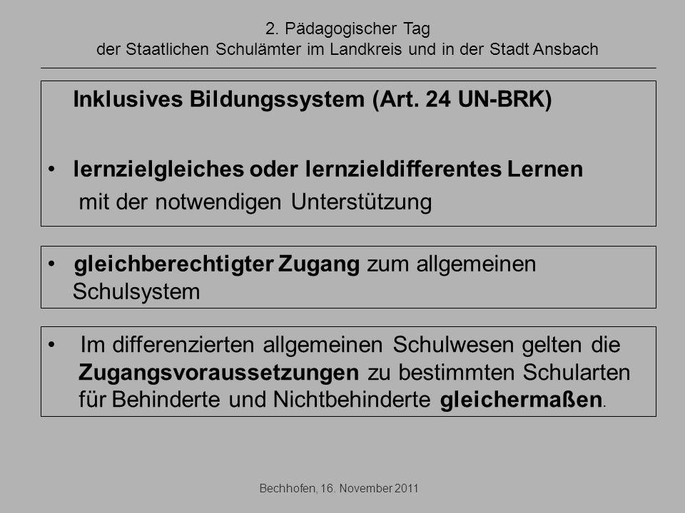 Inklusives Bildungssystem (Art. 24 UN-BRK)