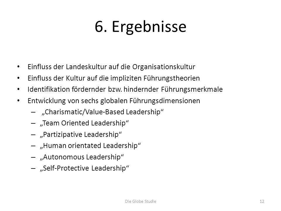 6. Ergebnisse Einfluss der Landeskultur auf die Organisationskultur