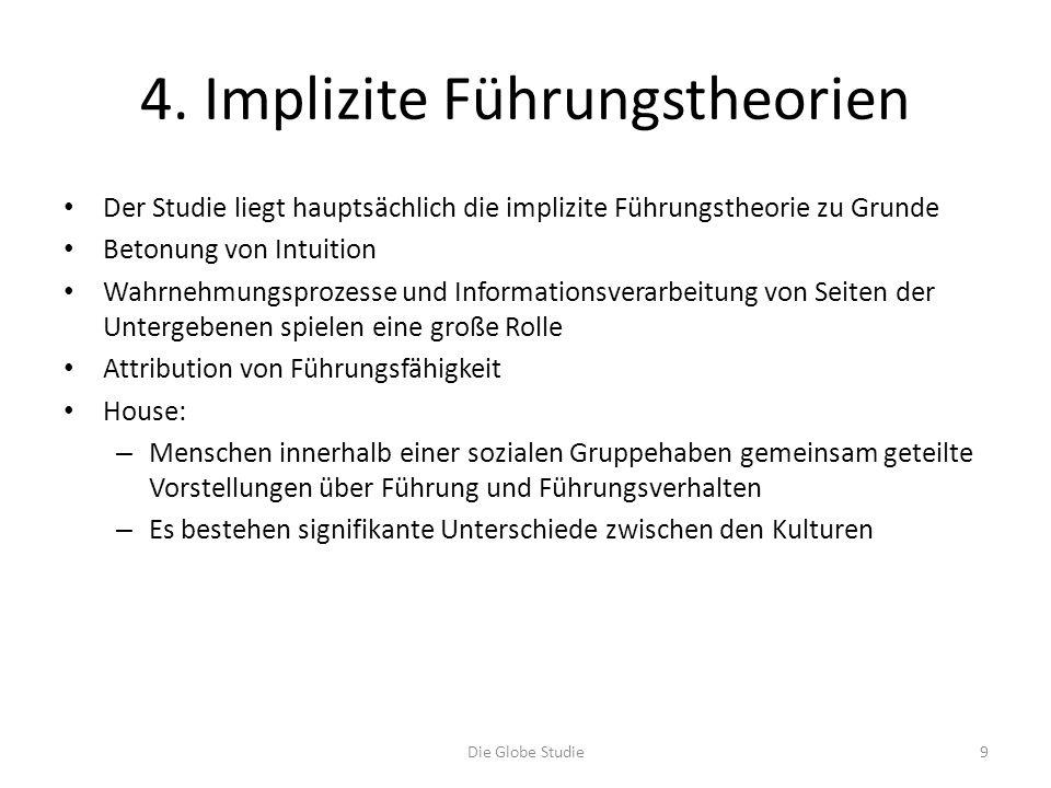 4. Implizite Führungstheorien
