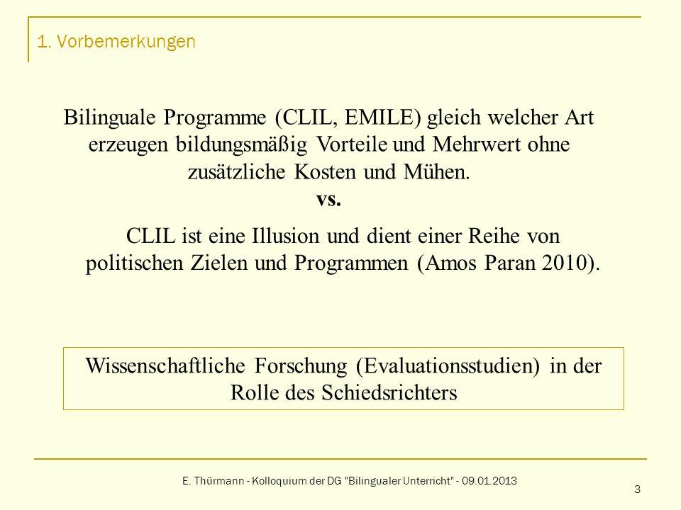 E. Thürmann - Kolloquium der DG Bilingualer Unterricht - 09.01.2013