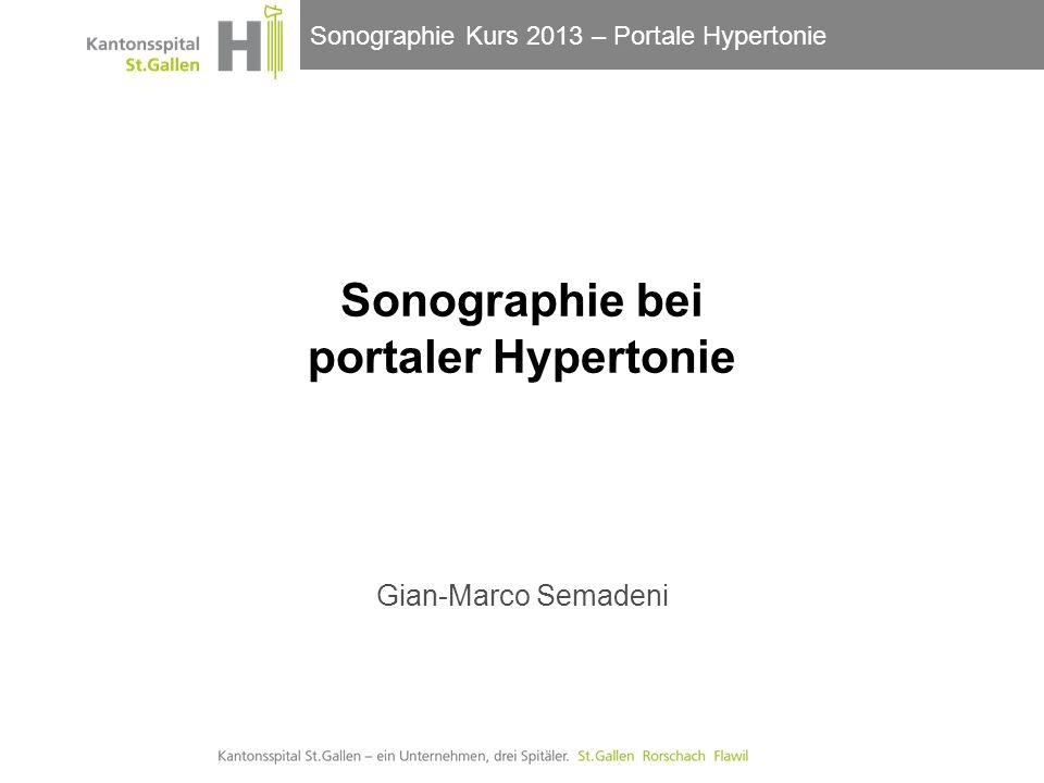 Sonographie bei portaler Hypertonie