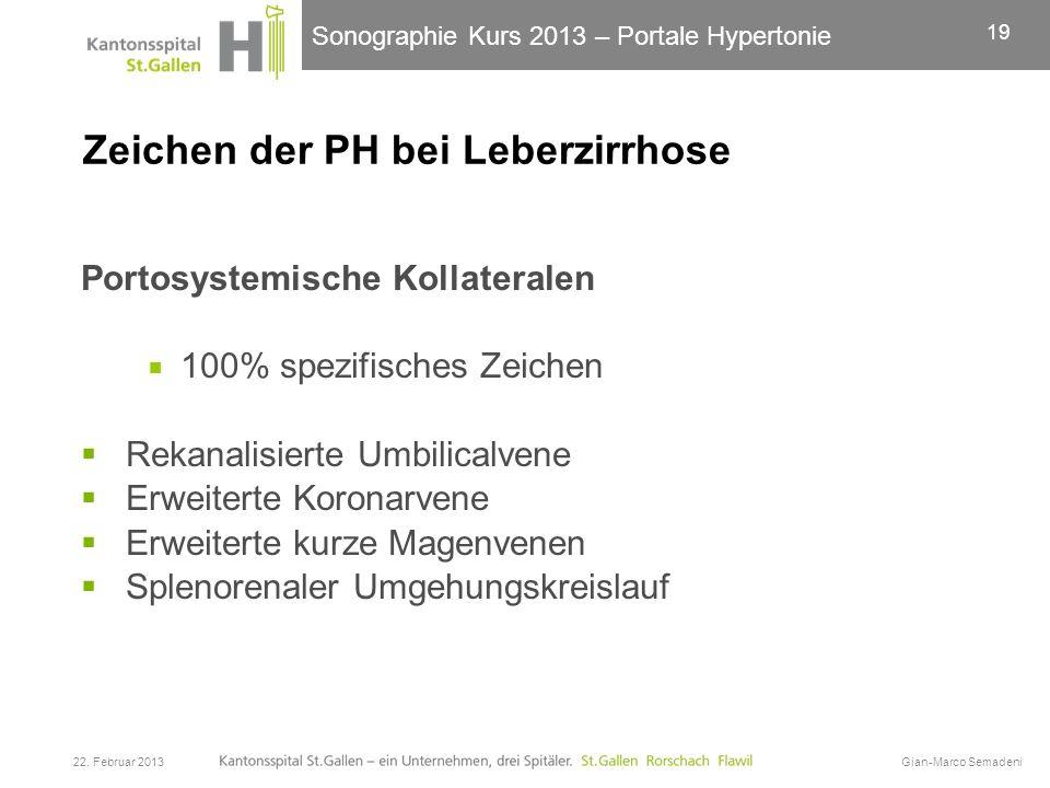 Zeichen der PH bei Leberzirrhose