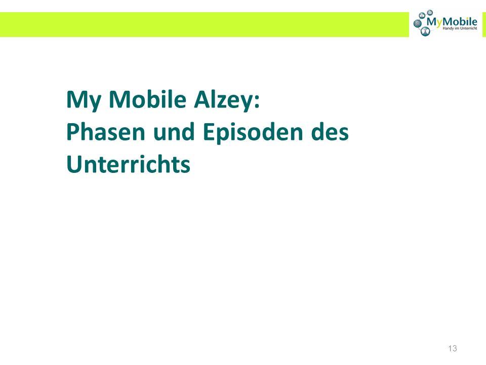 My Mobile Alzey: Phasen und Episoden des Unterrichts