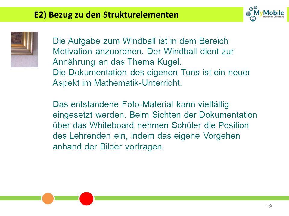 E2) Bezug zu den Strukturelementen