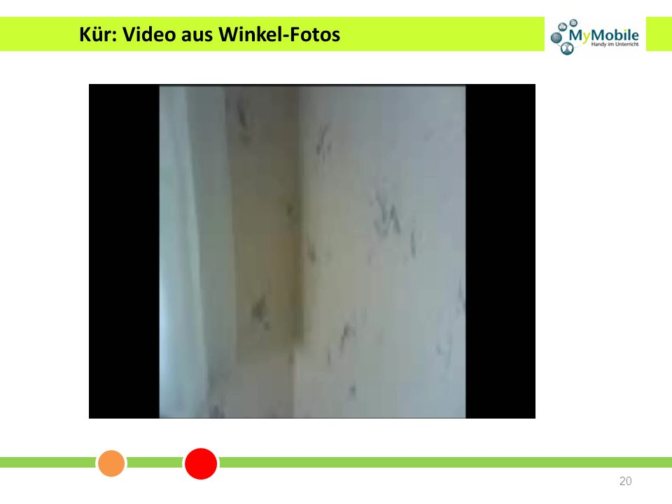 Kür: Video aus Winkel-Fotos
