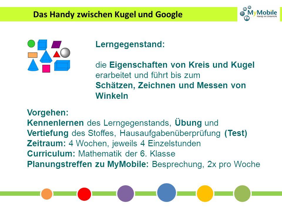 Das Handy zwischen Kugel und Google