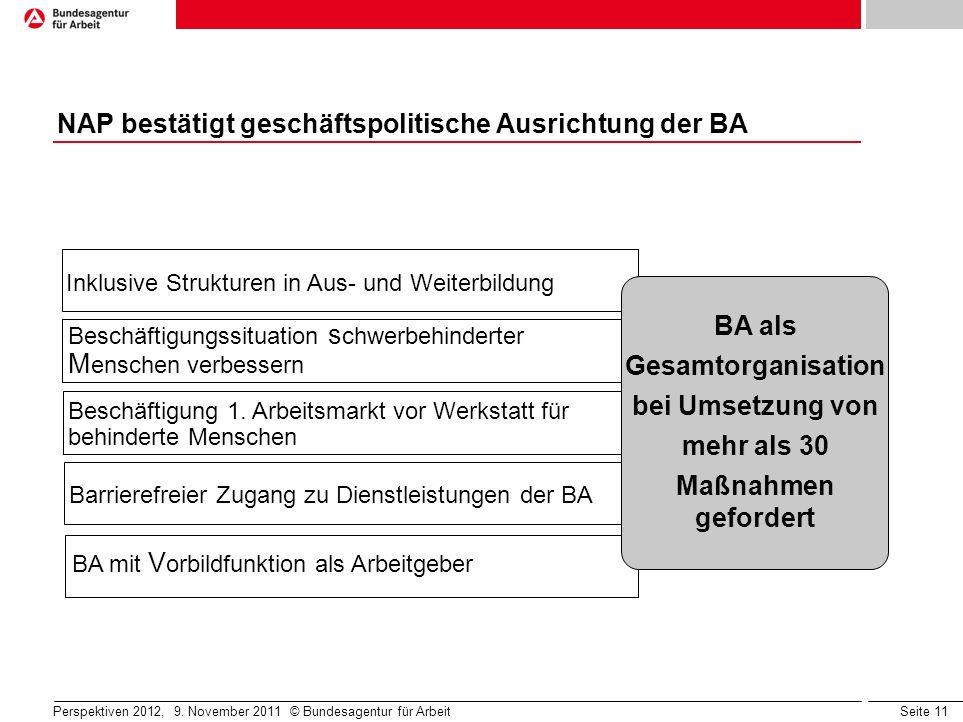 NAP bestätigt geschäftspolitische Ausrichtung der BA