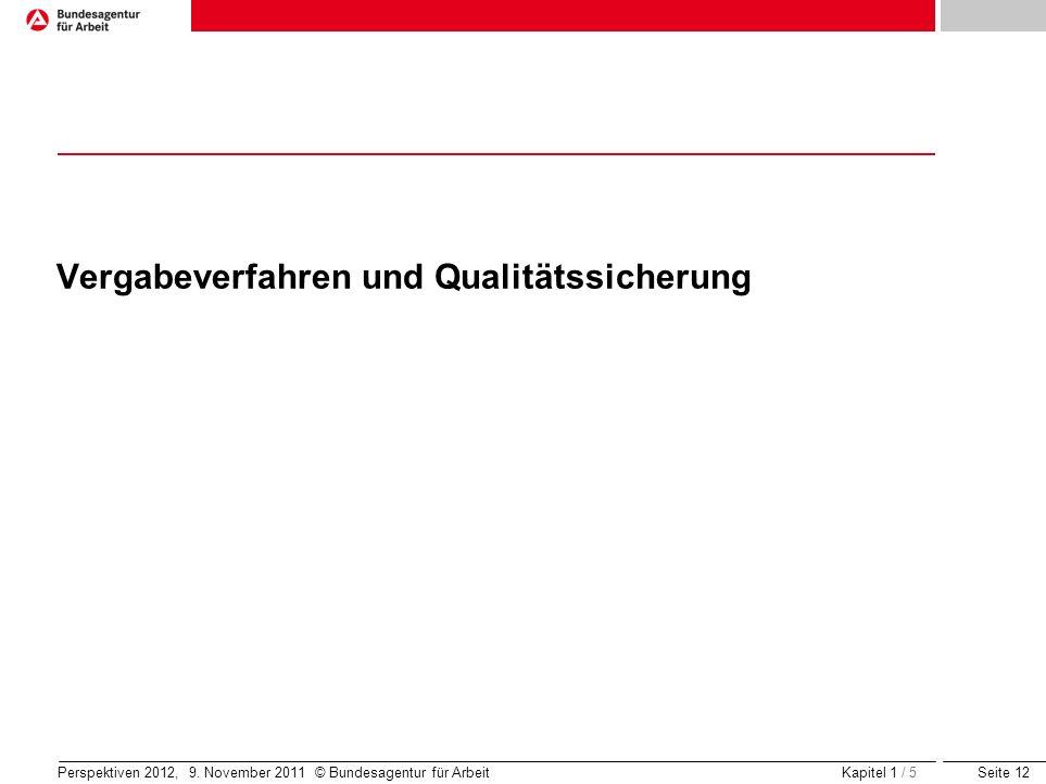 Vergabeverfahren und Qualitätssicherung
