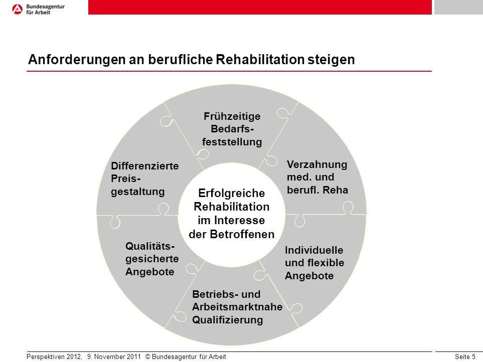 Anforderungen an berufliche Rehabilitation steigen