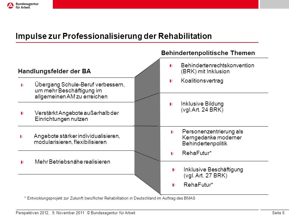 Impulse zur Professionalisierung der Rehabilitation