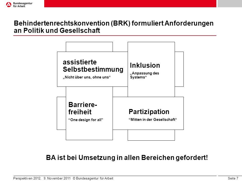 BA ist bei Umsetzung in allen Bereichen gefordert!