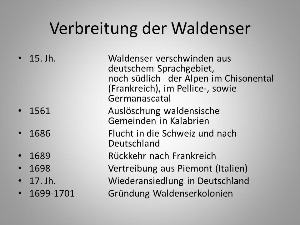 Verbreitung der Waldenser