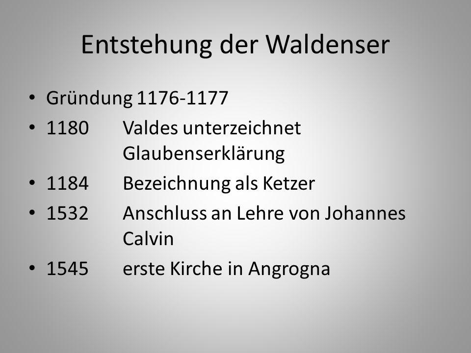 Entstehung der Waldenser