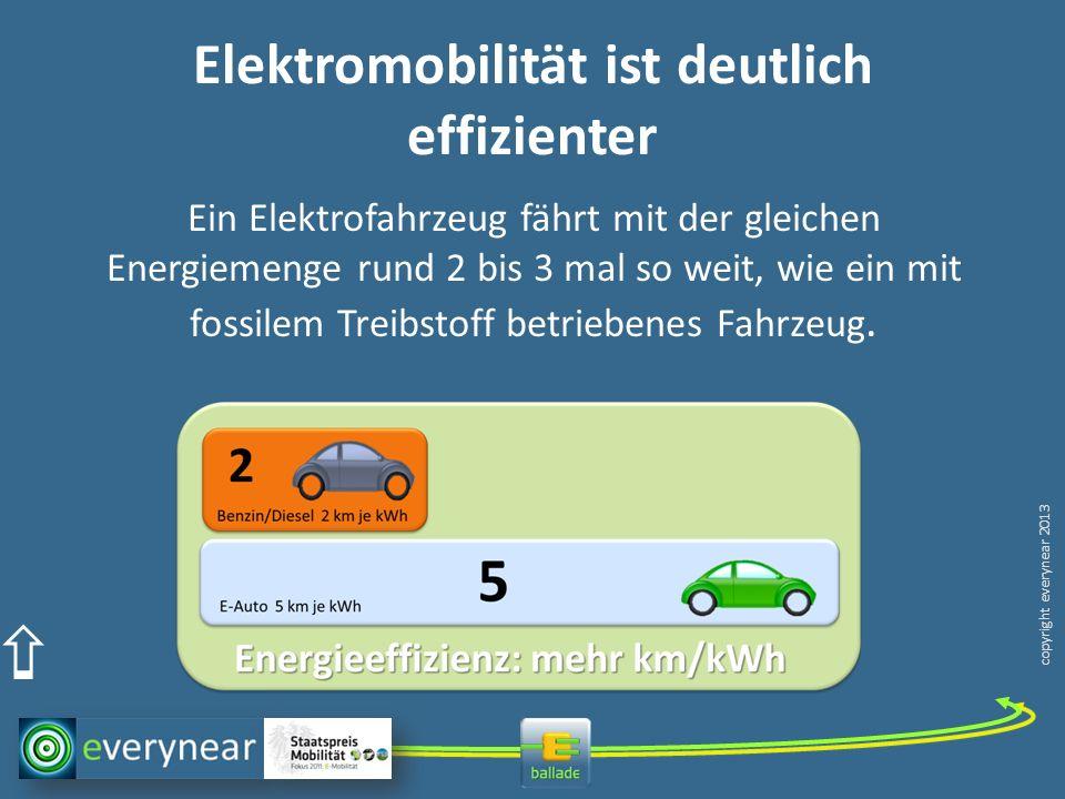 Elektromobilität ist deutlich effizienter