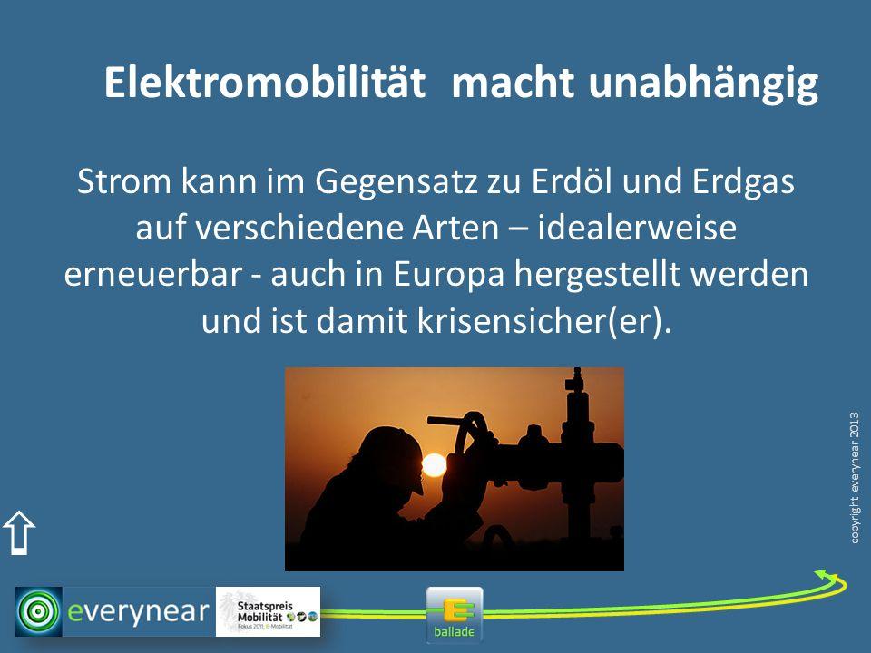 Elektromobilität macht unabhängig